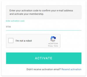 Nhập Activation code và ACTIVATE.