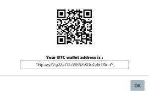 Ví dụ nạp BTC thì hệ thống sẽ cung cấp ví BTC của sàn cho mình gửi vào.