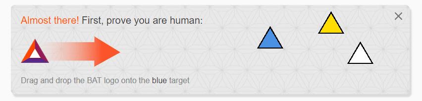 Kéo biểu tượng tam giác bên trái sang phải theo yêu cầu để xác minh bạn không phải robot.