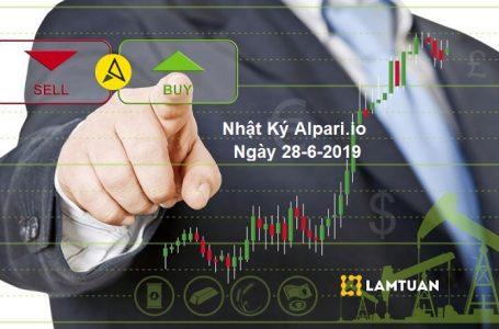 Nhật ký Alpari.io Ngày 28-6-2019 – Kiếm Tiền Nhanh Gọn
